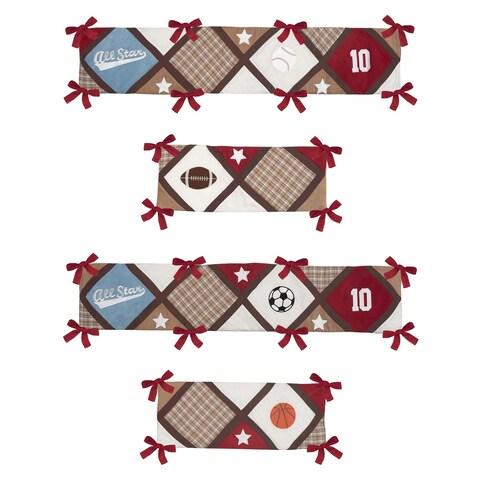 Sweet Jojo Designs All Star Sports Collection Baby Crib Bumper Pad