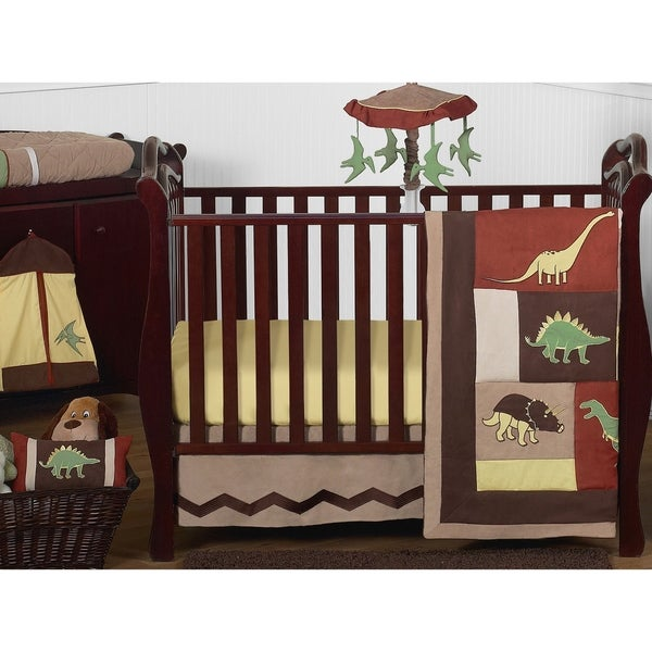 Sweet Jojo Designs Dinosaur 11-piece Bumperless Crib Bedding Set 9473089