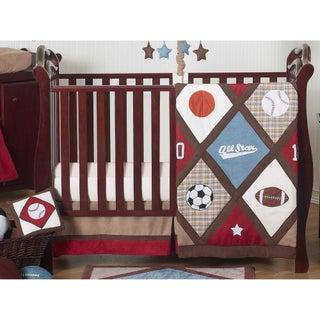 Sweet Jojo Designs All Star Sports 11-piece Bumperless Crib Bedding Set