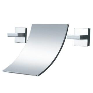 Sumerain Waterfall Double-Handle Bathroom Sink Faucet