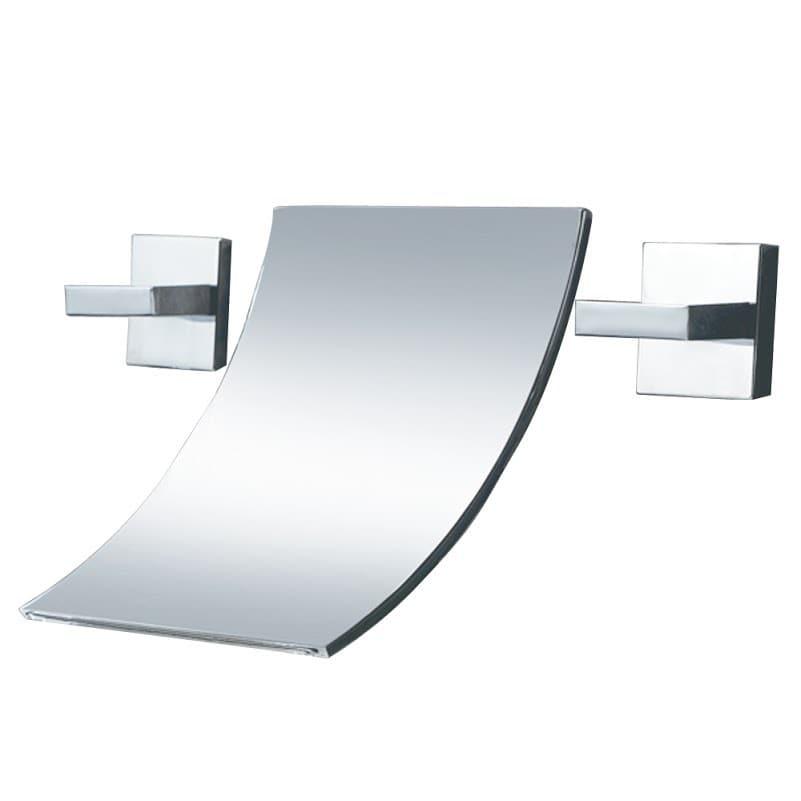 Sumerain Waterfall Double-Handle Bathroom Sink Faucet on tile bathroom modern, wall mount bathroom faucet modern, waterfall countertops modern,