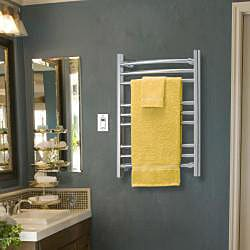 Riviera Hard Wire Brushed Stainless Towel Warmer