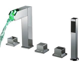 Sumerain Thermal LED Waterfall Bathtub Faucet Set