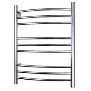 WarmlyYours 9-Bar Riviera Towel Warmer, Hardwired, Polished Stainless Steel