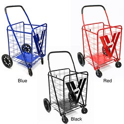 ATHome Heavy Duty Shopping Cart with Swivel Wheels