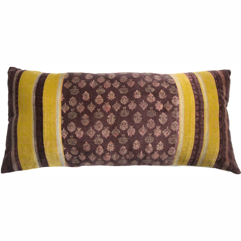 nuLOOM Handmade Ethnic Chic Plum Decorative Pillow