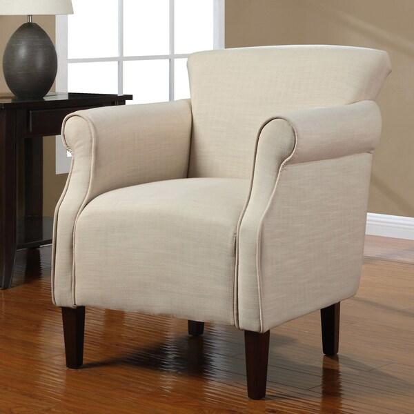 Tiburon Creme Linen Arm Chair