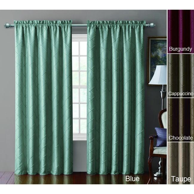 VCNY Sable Pintucked Taffeta Blackout 84-inch Curtain Panel