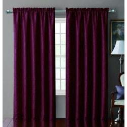 VCNY Sable Pintucked Taffeta Blackout 84-inch Curtain Panel - Thumbnail 2
