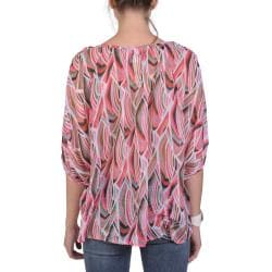 Tressa Designs Women's Contemporary Plus Flowy Sheer Button Detail Top