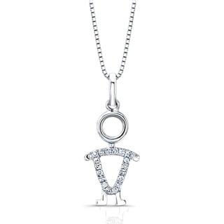 Auriya 14k White Gold Diamond Accent Boy Necklace
