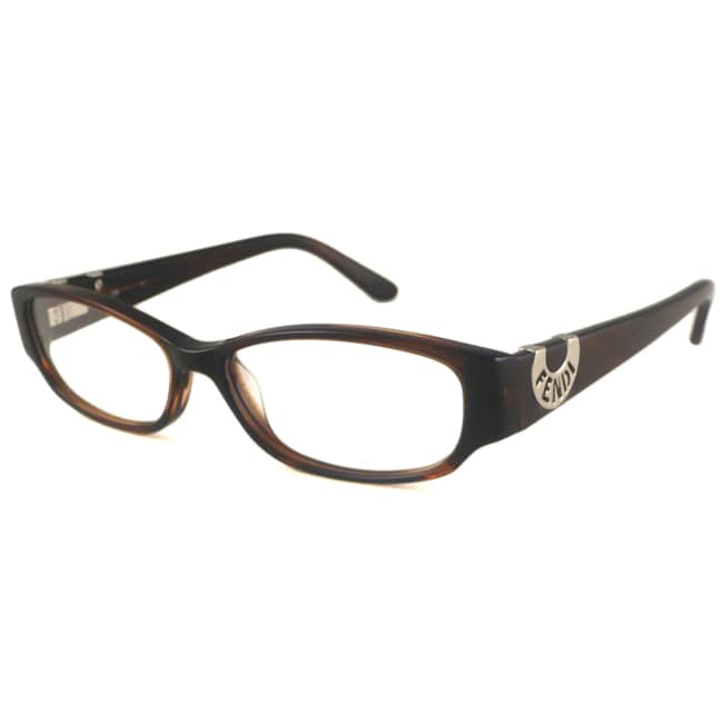 Fendi Readers Women's F845 Havana Stripe Rectangular Reading Glasses