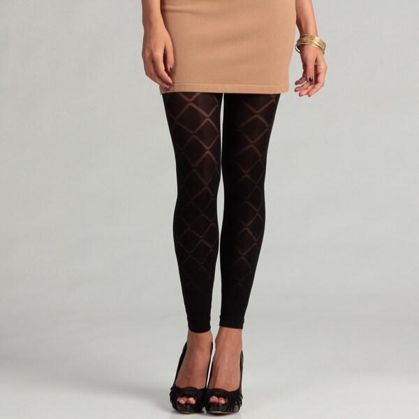 6126 By Lindsey Lohan Women's Black Diamond Leggings