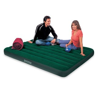 Intex Queen Size Inflatable Airbed with Pump