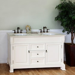 Bellaterra Home Cream White 60-inch Double Vanity