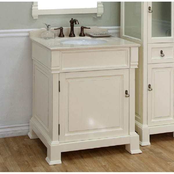 Shop Bellaterra Home Cream White 30 Inch Vanity Free Shipping Today 7009330