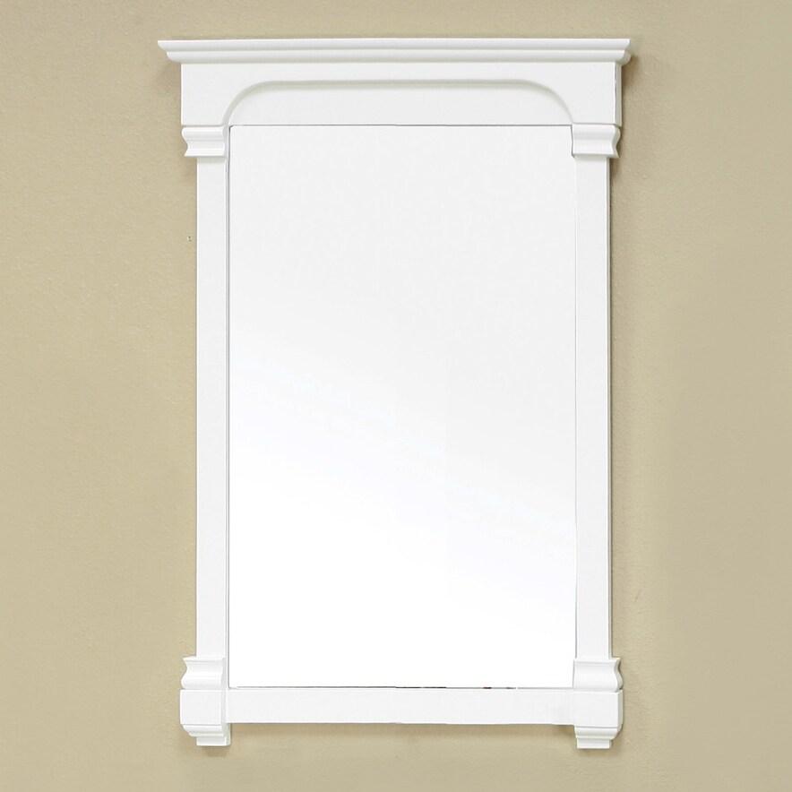 Bellaterra Home Cream White 24-inch Mirror