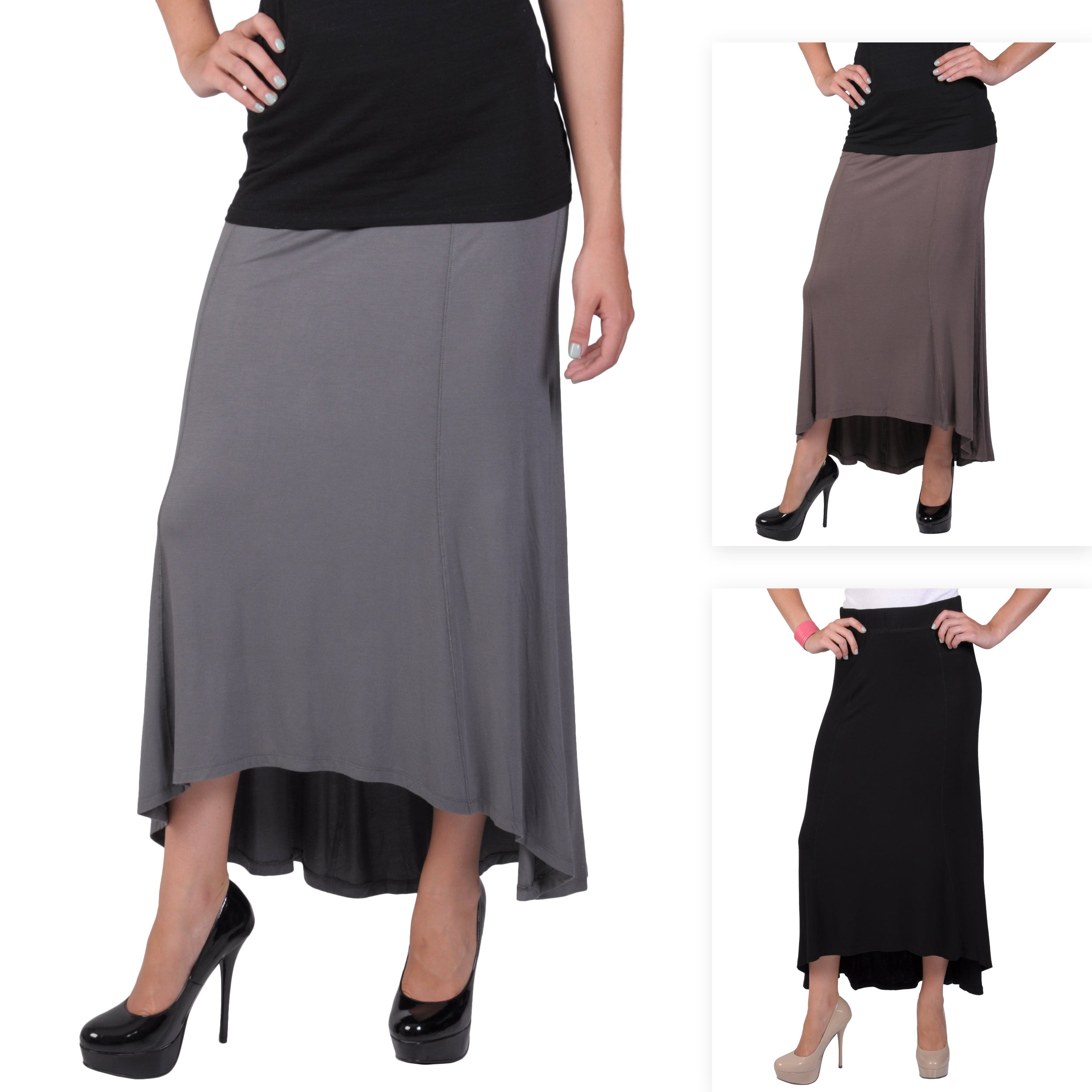 Journee Collection Juniors Paneled Hi-low Maxi Skirt