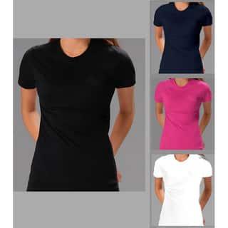 Women's Soft Cotton 2 Pack Crew Neck T-shirt|https://ak1.ostkcdn.com/images/products/7009390/P14516932.jpg?impolicy=medium