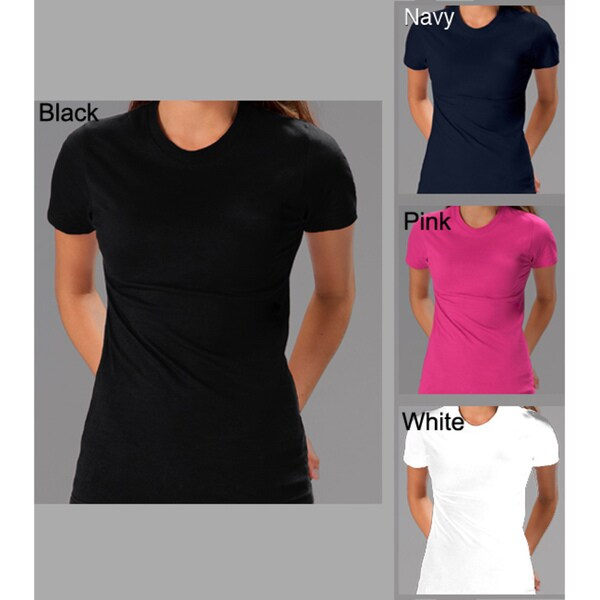 Women's Soft Cotton 2 Pack Crew Neck T-shirt