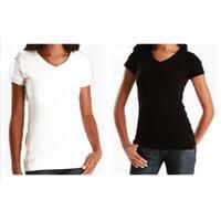 Los Angeles Pop Art Women's 2 Pack Cotton V-Neck T-shirt