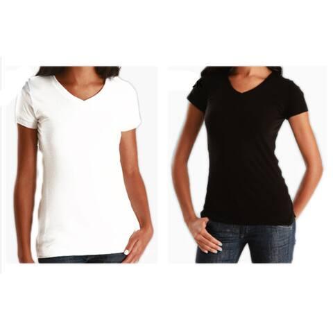 Los Angeles Pop Art Women's Soft Cotton V-Neck T-shirt