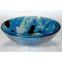 Blue Tempered Glass Sink Bowl
