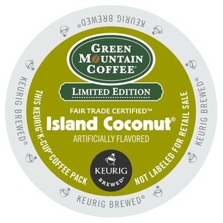 Green Mountain Coffee Island Coconut K-Cups for Keurig Brewers - White