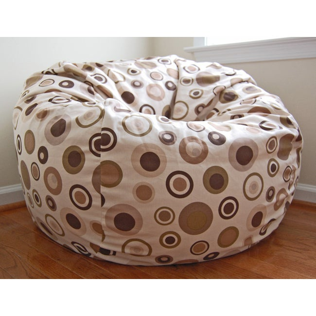 Ahh Products Bubbly Latte 36-inch Wide Cotton Washable Bean Bag Chair - Thumbnail 0