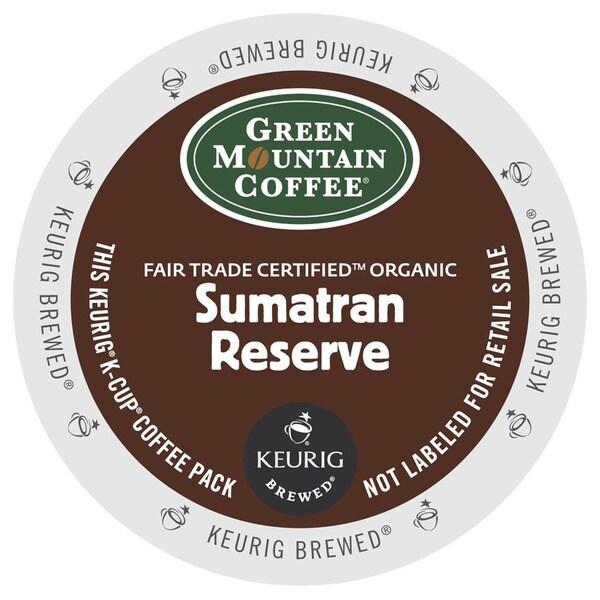 Green Mountain Coffee Fair Trade Organic Sumatran Reserve K-Cup for Keurig Brewers