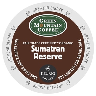 Green Mountain Coffee Fair Trade Organic Sumatran Reserve K-Cup for Keurig Brewers