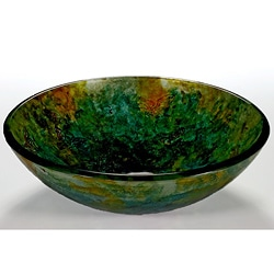 Green Glass Sink Bowl