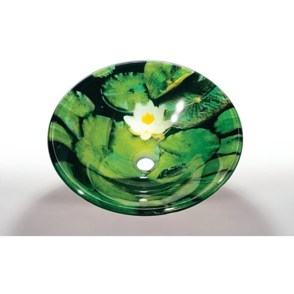 Shop Green Glass Sink Bowl Free Shipping Today