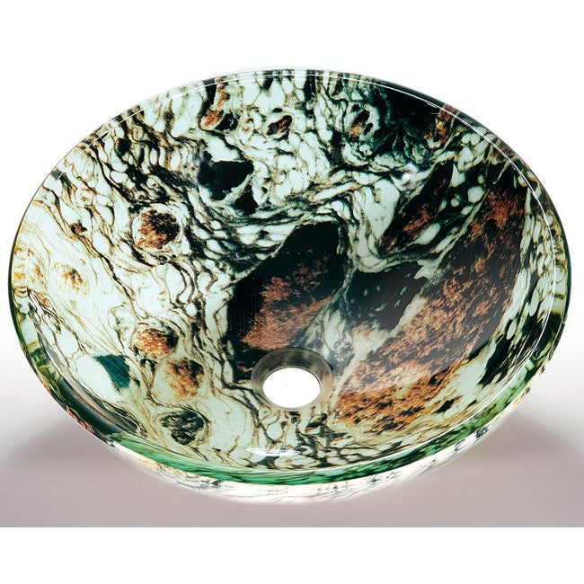 Abstract Glass Sink Bowl
