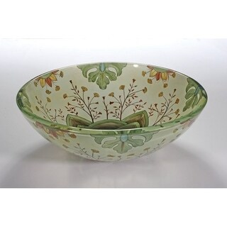 Patterned Glass Sink Bowl