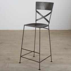 X-Back Zinc Bar Stool (India)