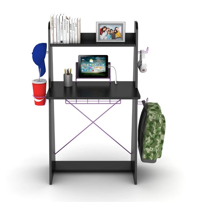 DarLiving Atlantic Black with Purple Edging Ladder Desk