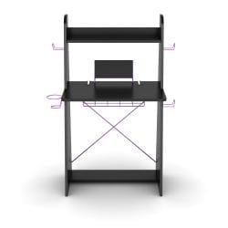 DarLiving Atlantic Black with Purple Edging Ladder Desk - Thumbnail 2