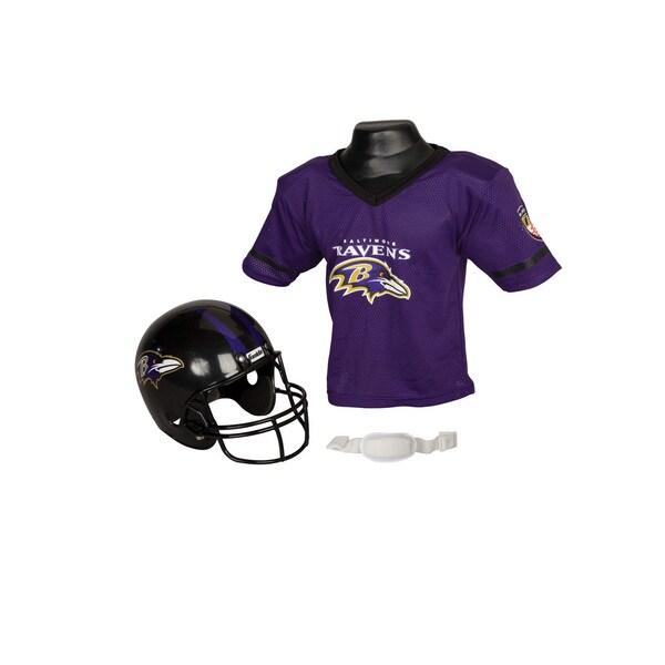 Baltimore Ravens NFL Helmet and Jersey Set