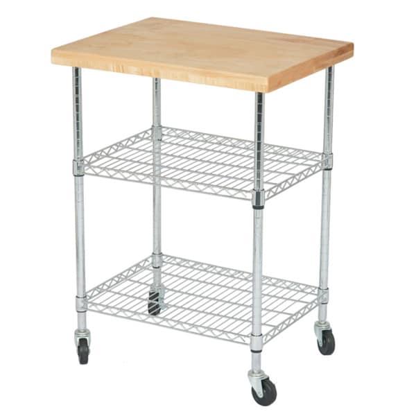 Solid Maple Butcher Block Gourmet Cart