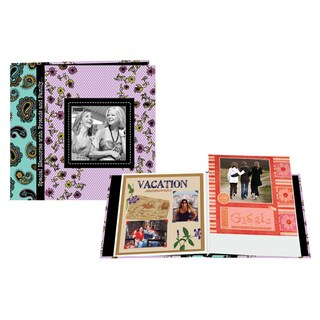 Pioneer Designer Printed Raised Frame Post Bound Album