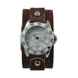 Nemesis Men's Groovy Leather Strap Watch