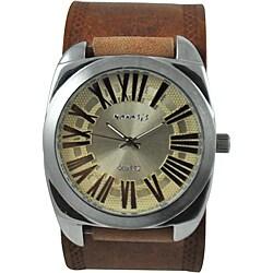 Nemesis Men's Retro Leather Strap Watch