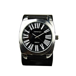 Nemesis Men's Retro Roman Numeral Leather Strap Watch