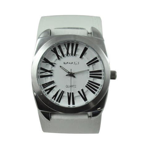 Nemesis Men's Retro Roman Leather Strap Watch