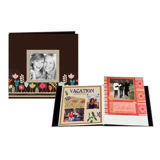 Pioneer Designer Printed Raised Frame Post Bound 8-inch Album