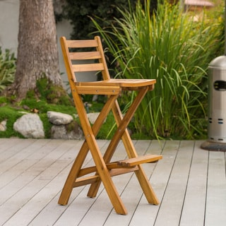 Tundra Outdoor Wood Barstool By Christopher Knight Home