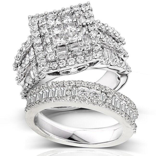 Diamond Wedding Band in 14K White Gold G-H,I2-I3 1//8 cttw, Size-5.5