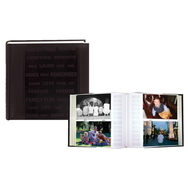 Pioneer Word Embossed Leatherette Cover Photo Album Set