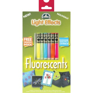DMC Light Effects Floss Pack 6/Pkg-Fluorescent